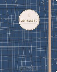 Adresboek (groot) Dark Blue