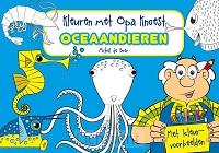 Kleuren met opa knoest oceaandieren