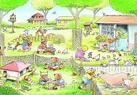 Ansichtkaart 15x10,5 kinderboerderij