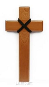 Kruis hout 17cm