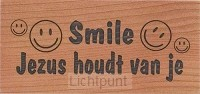 Wandbord magneet 97x47mm smile Jezus hou