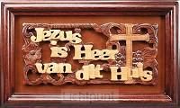 Lijst 30x18cm Jezus is hoofd van dit hui