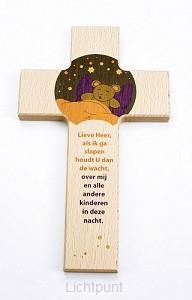 Kruis hout 15cm lieve Heer als ik ga sla