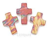 Kruis hout 6cm kleurdruk