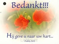 Kadokaartje psalm 20:5