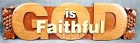 Wandbord 70x20cm God is faithful