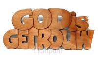 Wandbord 305x135mm God is getrouw
