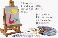 Kinderkaart God is een kunstenaar