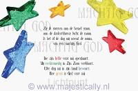 Kinderkaart zie ik sterren aan de hemel