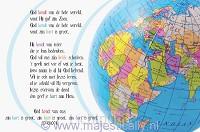 Kinderkaart God houdt van de hele wereld