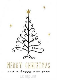 Kaart merry christmas and a happy new ye