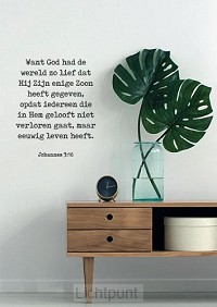 Want God had de wereld zo lief
