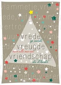 Kerstkaart Vrede vreugde