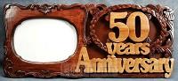 Wandbord/fotoraam 45x20cm 50 years anniv