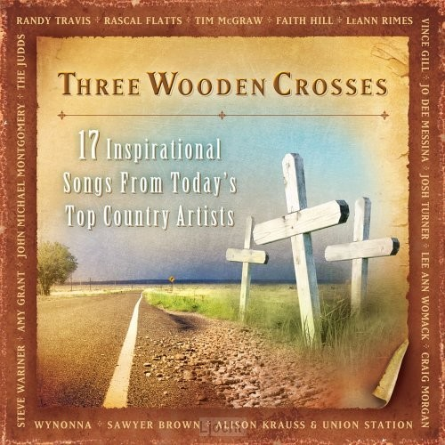 Three wooden crosses compilation