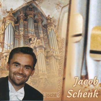 Jacob Schenk bespeelt het orgel