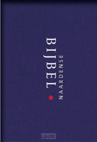 Naardense bijbel gebonden linnen blauw