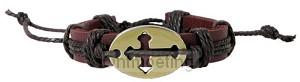Bracelet - 3:16  Faith gear, cross oval