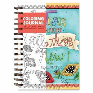 Coloring journal Jesus makes