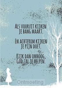 Poster A4 God zal je helpen