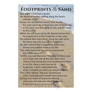 Minicard footprints 5 x 7,5 cm