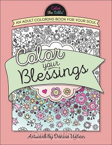 Color your blessings adult coloring book