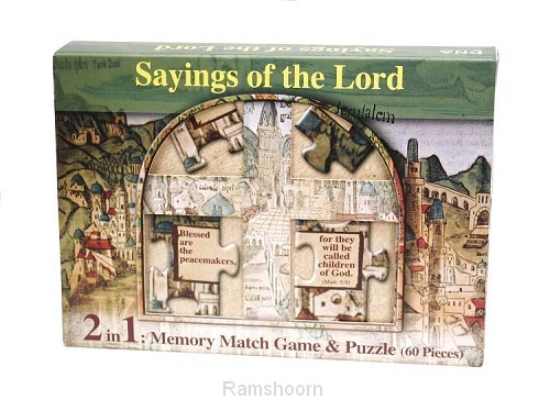 Spel memory/puzzle sayings of the lord