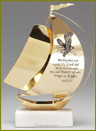 Zeilboot goldpl 14cm isaiah 40:31