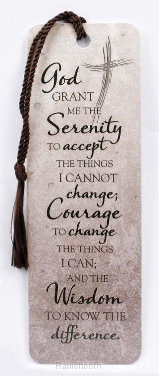 Bookmark serenity prayer