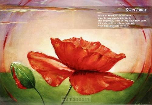 Poster A4 een bloem in Gods tuin