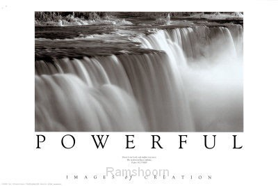 Powerful Niagara Falls Poster