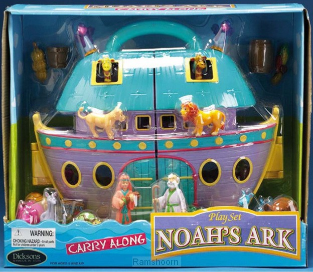 Noah's ark carry along play set