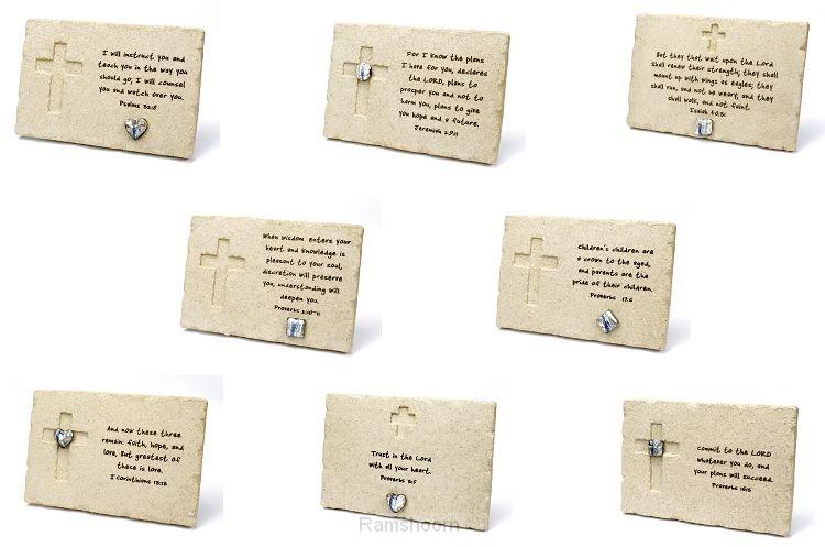 Ass 8 plaquettes engelse teksten 10x15