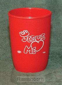 Beker plastic jesus (hart) me