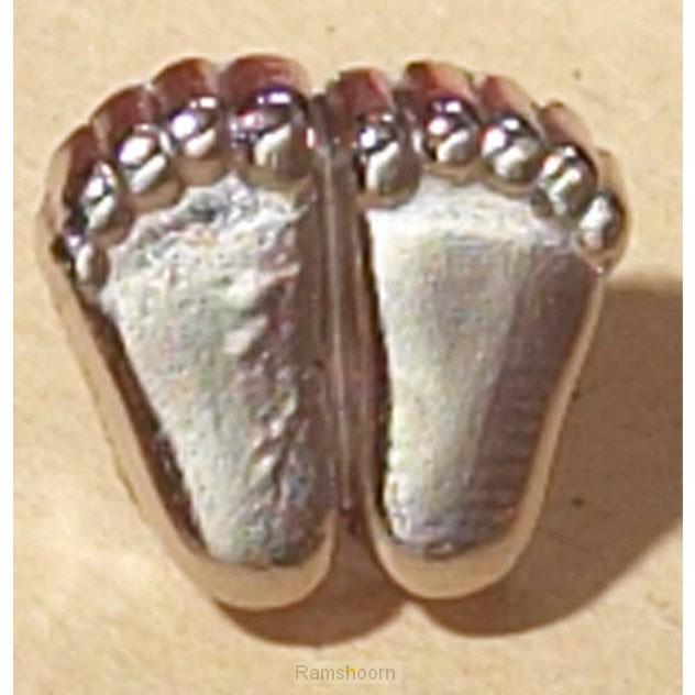 Reverpin voetjes pro life zilverkl