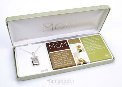 Hanger m ketting zilver a letter to mom