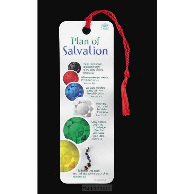 Bookmark/reverpin plan of salvation
