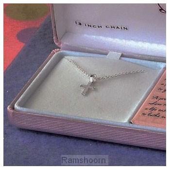 Hanger kruis m kett zilver baby in box
