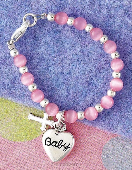 Baby blessings bracelet pink in box
