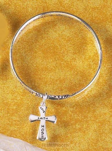 Armband zilver kruis rom 10:17