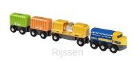 Vrachttrein met drie wagons