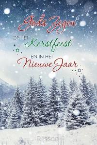 Wenskaart Gods Zegen op het Kerstfeest