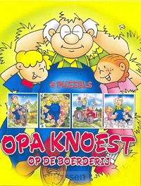 4 puzzels opa knoest op de boerderij