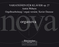 Variationen For Piano Op. 27 - organ