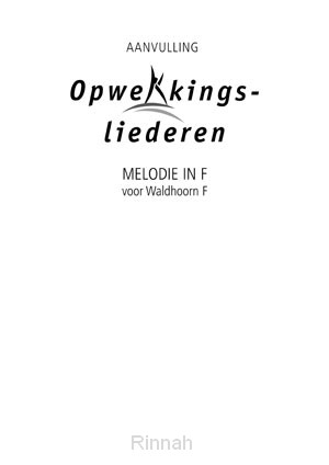 Melodie-uitgave aanv. in F stemming