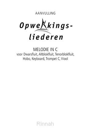 Melodie-uitgave aanv. in C stemming