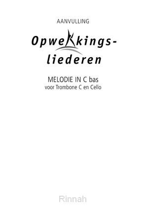Melodie-uitgave aanv. in C- bas stemming