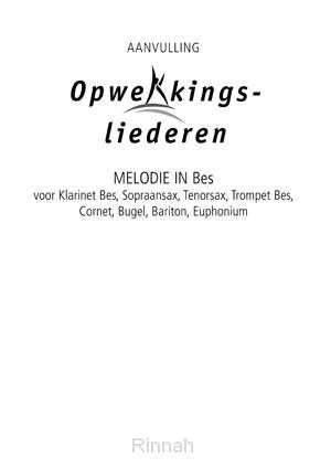 Melodie-uitgave aanv. in Bes stemming