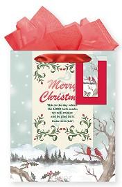 Christmas bag medium snowy scene