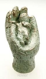 Beeld 16d in Zyn hand 7 cm groen